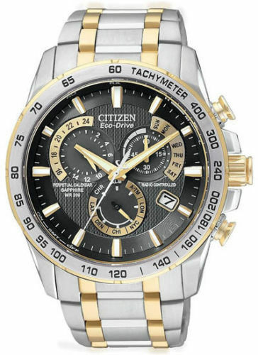$249.95 - Citizen Eco-Drive Men's AT4004-52E Chronograph Two-Tone Perpetual Calendar Watch