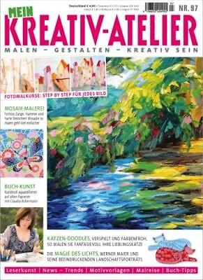 Mein Kreativ Atelier 97/2018  Mosaik - Buchkunst - KatzenDoodles - Landschaften