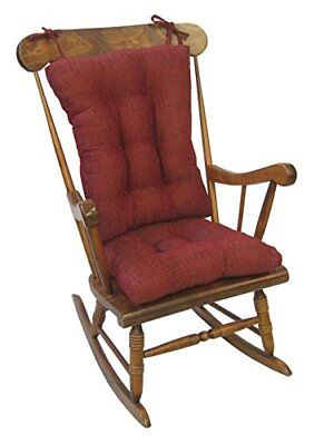 Klear Vu Tyson Extra Large Fabric Rocking Cushions Chair Pad Set, Red TAXFREE