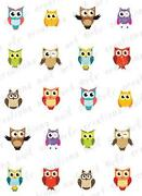 Owl Nail Decals