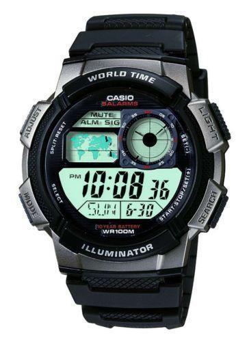 casio illuminator  wristwatches