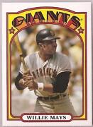 1972 Willie Mays Baseball Card