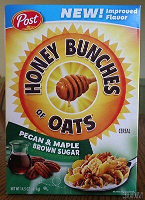 Honey Bunches of Oats Pecan & Maple Brown Sugar 14.5 oz ( 2 Pack)