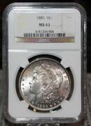 1885 Morgan Silver Dollar MS63