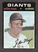 1971 Topps Baseball Cards Willie Mays