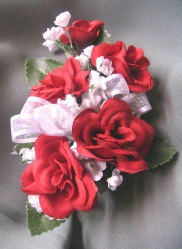 Red Wrist Corsage Flowers Petals Amp Garlands Ebay