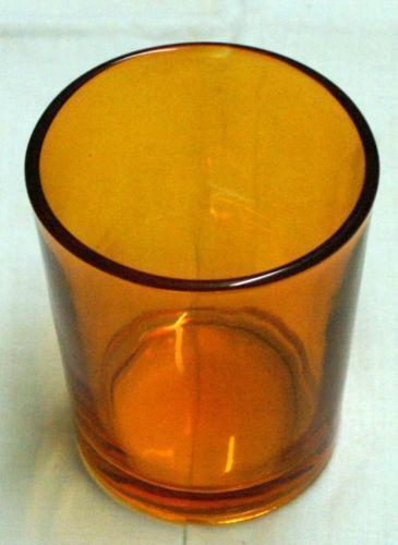 Amber Glass Votive Ebay