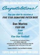 Dan Marino Autograph Card
