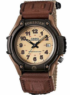Casio FT500WC-5BV, Forester, Men's 100 Meter WR Beige/Tan Nylon Strap, Date