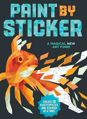 Paint by Sticker: Create 12 Masterpieces One Sticker at a Time! [New Book] Adu](Adult Sticker Book)