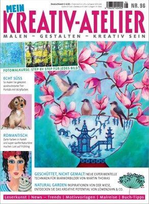 Mein Kreativ Atelier 96/2018  Tiere in Acryl - Naturtöne - Marmorbilder - Frühli