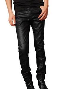 Men Pants Fashion Leather
