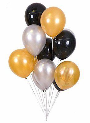 10-100 Merry Christmas Latex Balloons Gold Silver Black Decoration helium baloon - Black Baloons