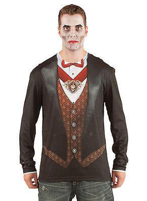 - Schwarz Vampir Kostüme Shirt