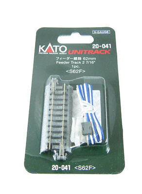 "NEW KATO N Scale : 20-041 UNITRACK 62mm (2 7/16"") Feeder Track S62F AIRMAIL Only"