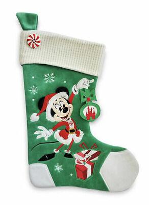 Disney Tienda Mickey Mouse Vacaciones Navidad Verde Calcetines 2020
