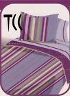 Purple Twin Striped Comforters & Bedding Sets