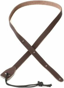 Planet Waves Leather Mandolin Strap 75M01. Brown Leather