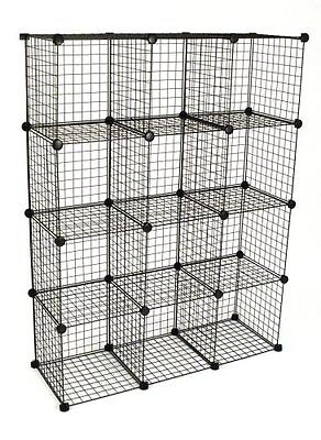 Mini Grid Shelf Unit Gridwall Panel Shelves Retail Display Fixture Black New