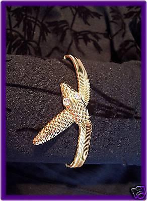 Gold Schlange Armband (ARMBAND GOLDFARBEN NEU NEU SCHLANGE STRASS STRAß)