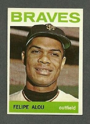 1964 Topps # 65 Felipe Alou - Atlanta Braves - NM - Additional ship free