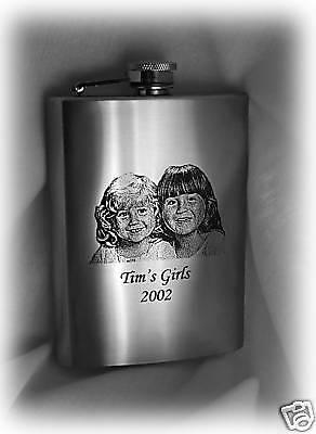 Stainless steel custom engraved hip flask