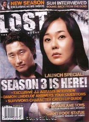 LOST OFFICIAL MAGAZINE - SUN & JIN COVER - SEASON 3 LAUNCH # 7A