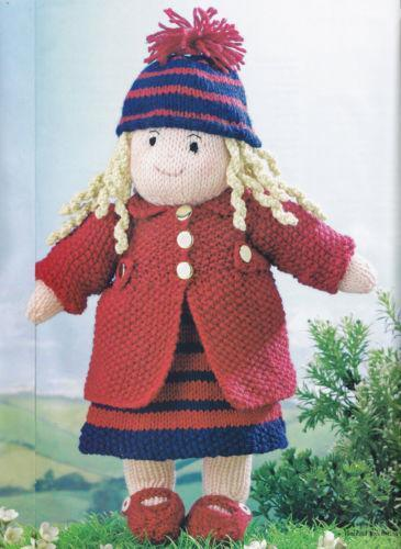 Knitting Doll How To Use : Knitted rag dolls ebay