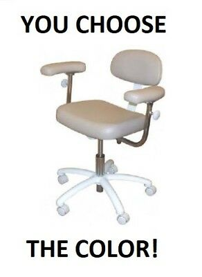 New Galaxy 1088 Contoured Adjustable Doctors Dental Seat Stool Chair With Arms