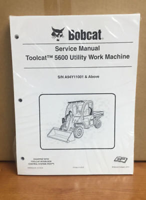 Bobcat Toolcat 5600 Utility Machine Complete Shop Service Manual 5 Pn 6990050