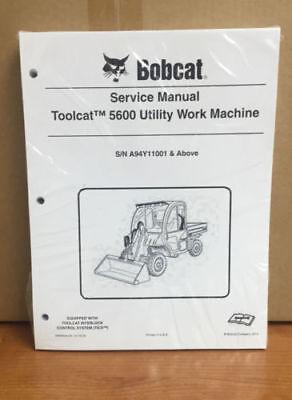 Bobcat Toolcat 5600 Utility Machine Complete Shop Service Manual 5 Pn 6990050