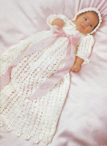Vintage Christening Gown Pattern Ebay