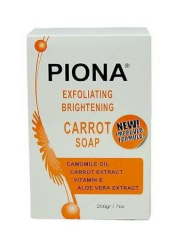 Piona Exfoliating & Brightening Carrot Soap 7oz Health & Beauty