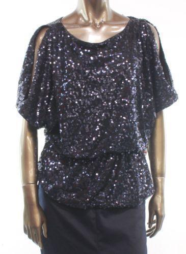 Sequin Cold Shoulder Top Ebay