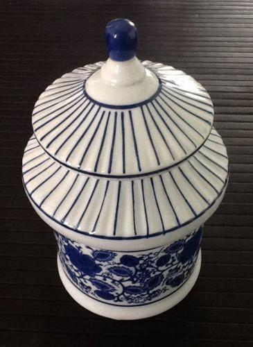 Blue White Cookie Jar Ebay