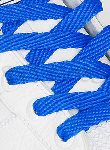FLAT COLOURED SHOE LACES SHOELACES BOOTLACES - 30 COLOURS - 2 WIDTHS - 4 LENGTHS