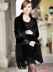 Mink Coats & Jackets Black Knitted for Women