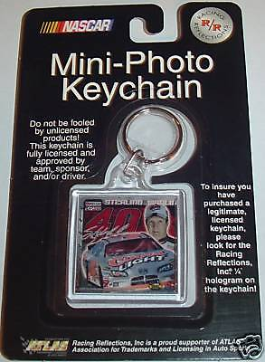 Sterling Marlin Coors Light Beer Racing Nascar Signature Photo Keychain Ring  01