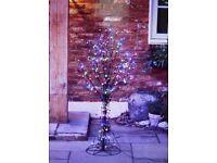 Santa's Best 56 Function Indoor/Outdoor All Seasons Pre-lit Tree 4ft 150 lights