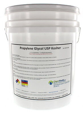 Chemworld Propylene Glycol Usp - Made In Usa - 99.9 Concentrate - 5 Gallons