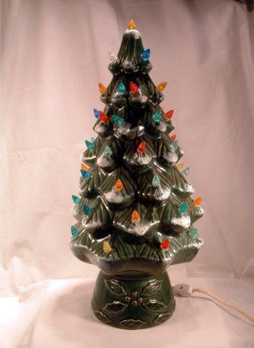 Green Ceramic Christmas Tree Ebay
