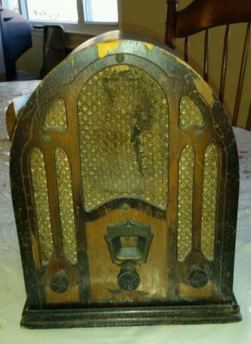 Ge Cathedral Style Am Fm Radio 1932 Replica Model 7 4100ja
