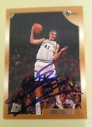 Dirk Nowitzki Autograph