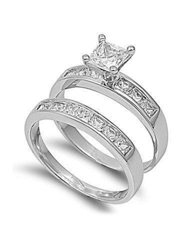 Princess Cut Diamond Engagement Ring Size 8
