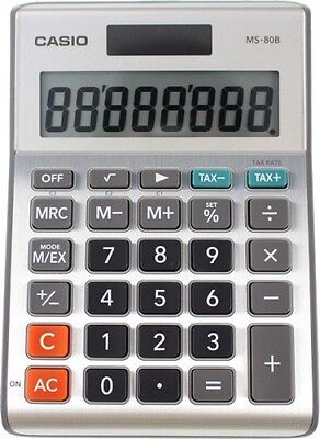 Casio MS-80B Basic Desktop Calculator with 8 Digital Display