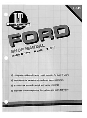 Shop Manual Ford 2810 2910 3910 Tractor