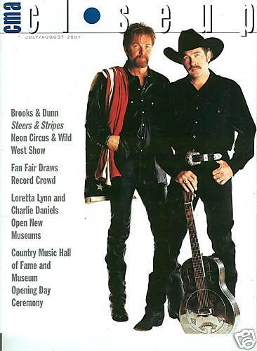 Brooks and Dunn cover CMA Close Up magazine July 2001 don williams bob dipiero
