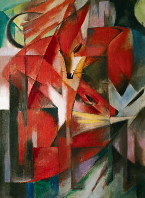 Ölbilder Ölgemälde Gemälde THE FOX - FRANZ MARC 40x70cm