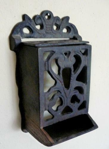 Cast Iron Match Box Holder Ebay
