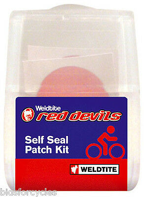 WELDTITE RED DEVILS BICYCLE CYCLE INNER TUBE SELF SEAL PUNCTURE REPAIR PATCH KIT